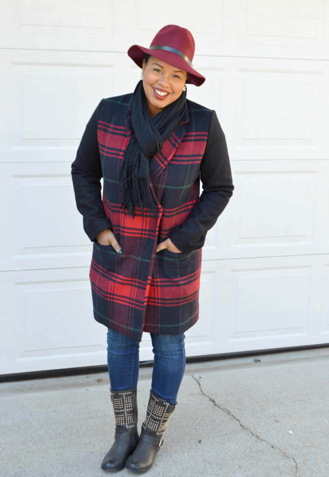 gap wool coat hat
