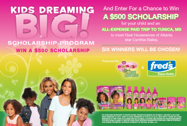 kids dreaming big scholarship flyer