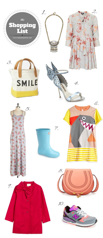Spring shopping list