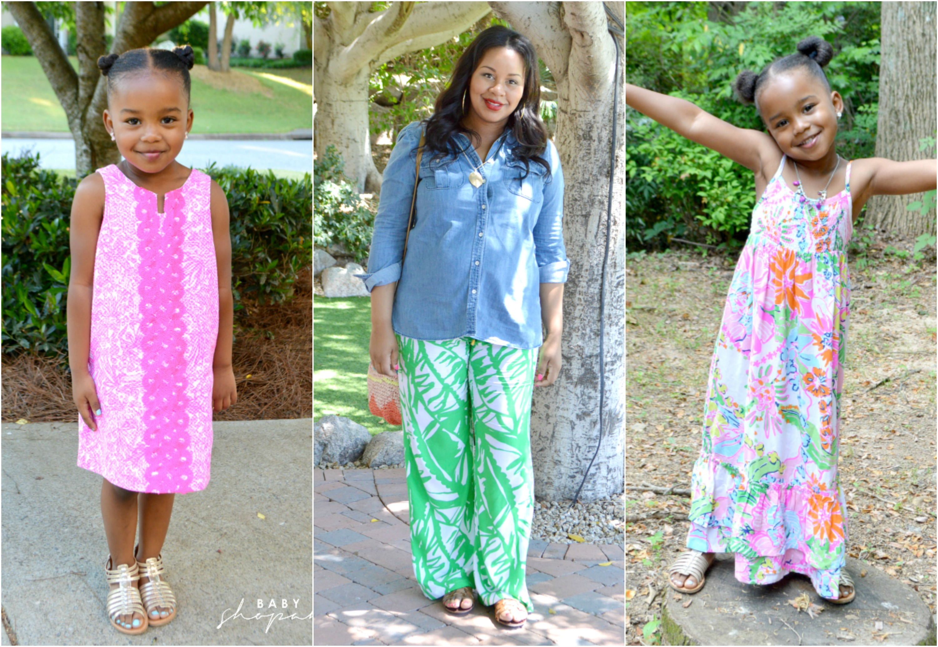 Mommy Me in Lilly Pulitzer for Tar Baby Shopaholic