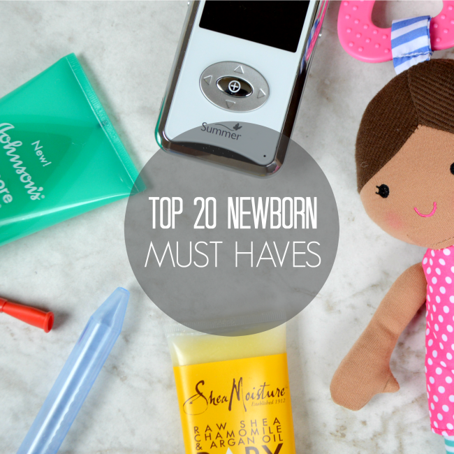 Top 20 newborn must have items