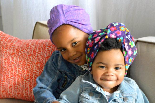 kids hair bonnet and turban 2