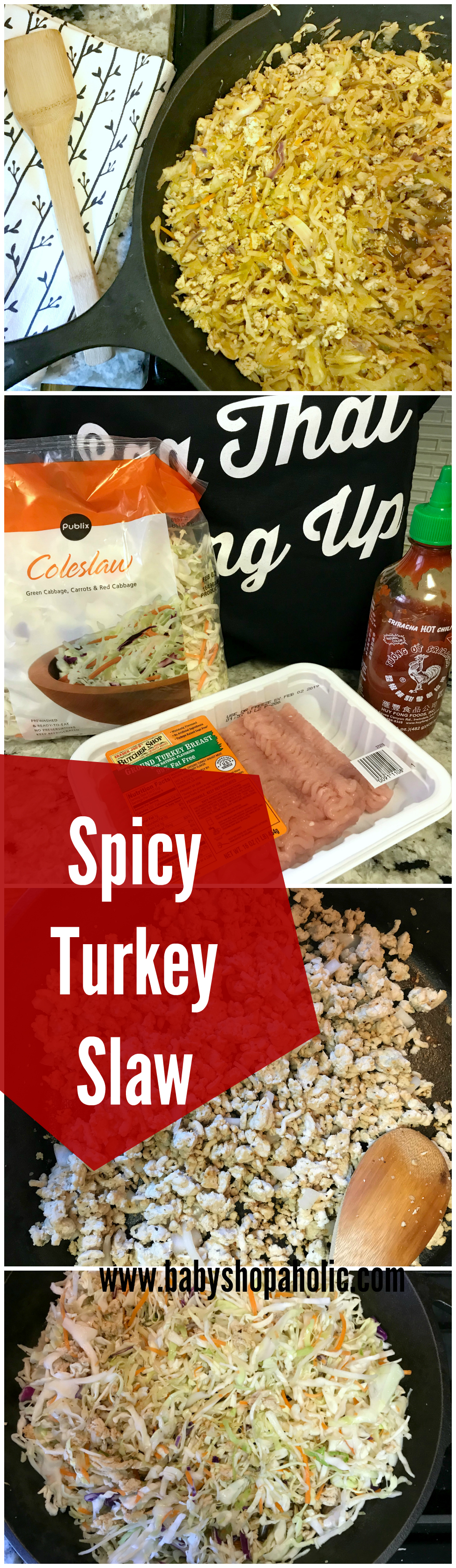 Spicy turkey slaw low carb